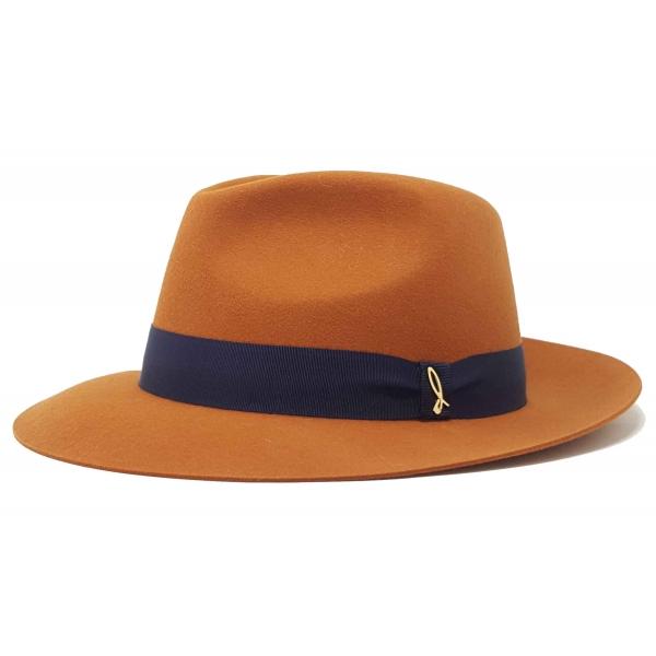 Doria 1905 - Drop - Drop Hat Pumpkin Blue - Accessories - Handmade Artisan Italian Cap