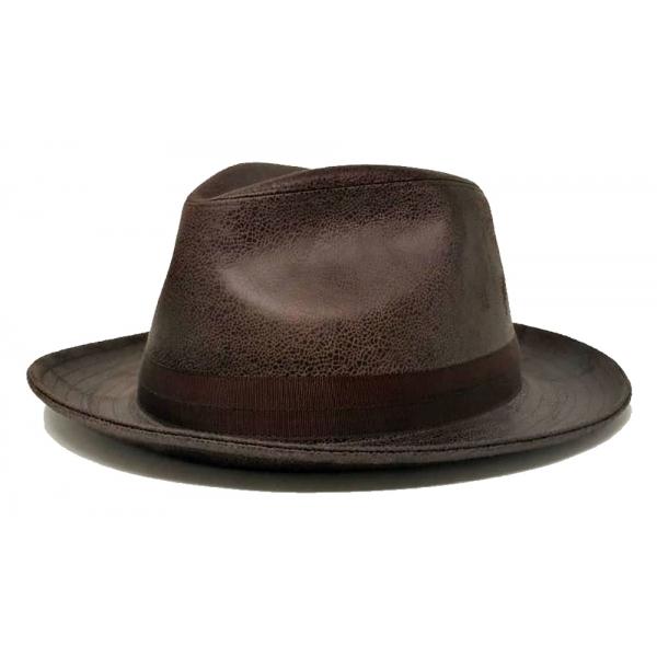 Doria 1905 - Fernando - Drop Hat Moka Cocoa - Accessories - Handmade Artisan Italian Cap
