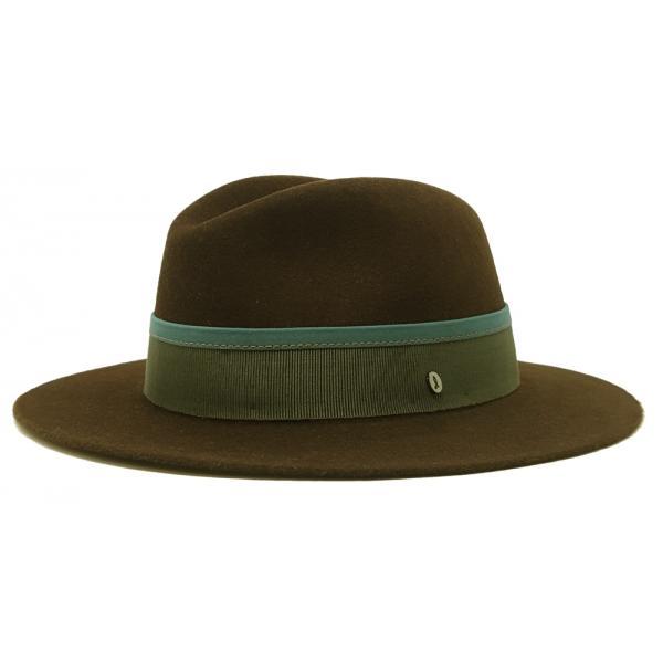 Doria 1905 - Ike - Fedora Hat Mud Fern Petroleum - Accessories - Handmade Artisan Italian Cap
