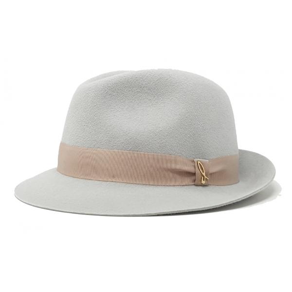 Doria 1905 - James - Trilby Hat Pearl Travertine - Accessories - Handmade Artisan Italian Cap