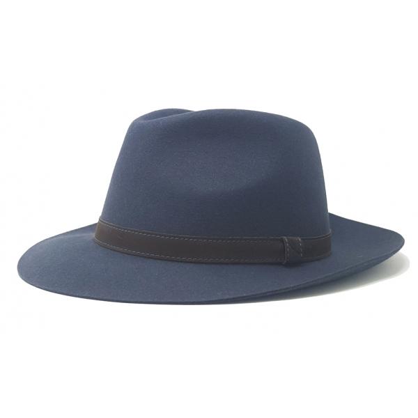 Doria 1905 - Orlando - Drop Hat Smoke Brown - Accessories - Handmade Artisan Italian Cap