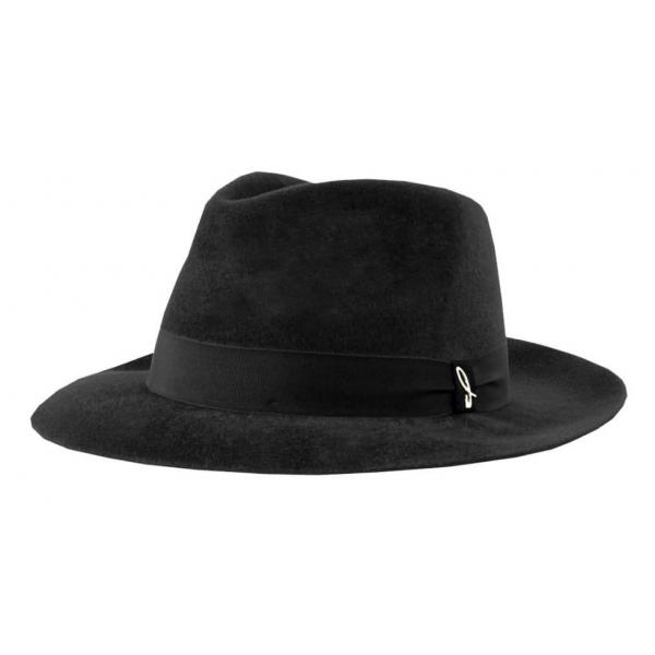 Doria 1905 - Roberto - Fedora Hat Black - Accessories - Handmade Artisan Italian Cap