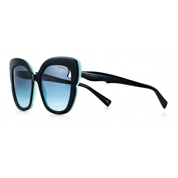 Tiffany & Co. - Occhiale da Sole Quadrati - Nero Tiffany Blue® - Collezione Tiffany Paper Flowers - Tiffany & Co. Eyewear