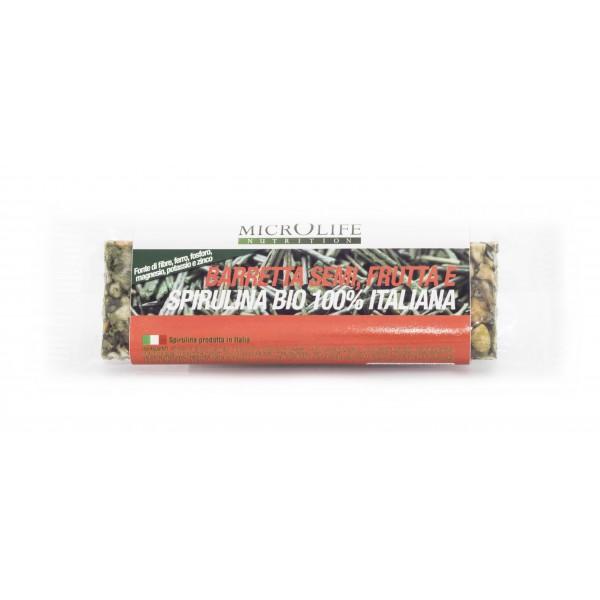 Microlife - Organic Bars - Energy Bar with Seeds Fruits and 100% Italian Organic Spirulina