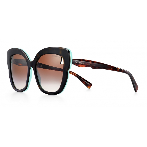 Tiffany & Co. - Occhiale da Sole Quadrati - Nero Tiffany Blue® - Collezione Paper Flowers - Tiffany & Co. Eyewear