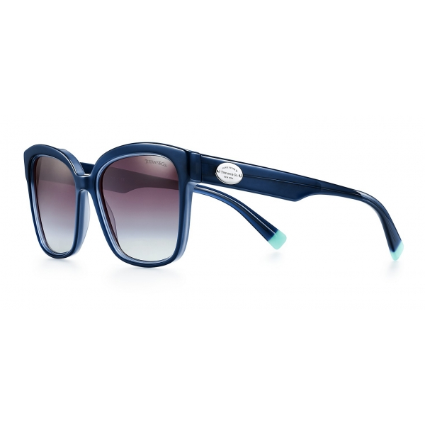 Tiffany & Co. - Occhiale da Sole Quadrati - Blu Grigio - Collezione Return to Tiffany - Tiffany & Co. Eyewear
