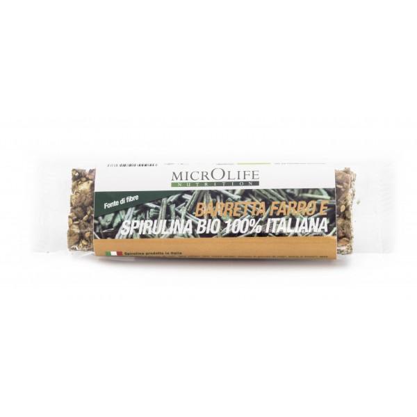 Microlife - Organic Bars - Energy Bar with Spelt and 100% Italian Organic Spirulina