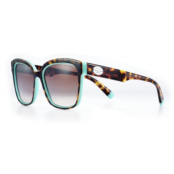Tiffany & Co. - Occhiale da Sole Quadrati - Tartaruga Tiffany Blue - Collezione Return to Tiffany - Tiffany & Co. Eyewear