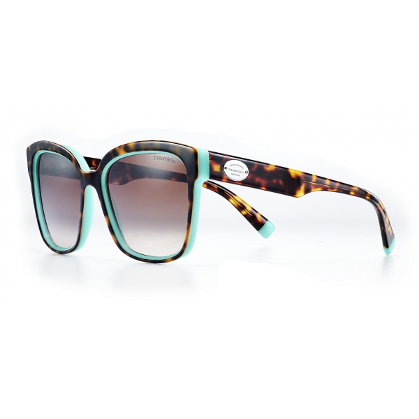 Tiffany & Co. - Square Sunglasses - Tortoise Tiffany Blue Brown - Return to Tiffany Collection - Tiffany & Co. Eyewear