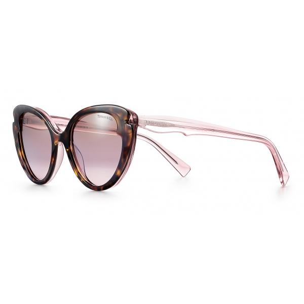 Tiffany & Co. - Occhiale da Sole Cat Eye - Tartaruga Rosa Viola Marrone - Collezione Paper Flowers - Tiffany & Co. Eyewear