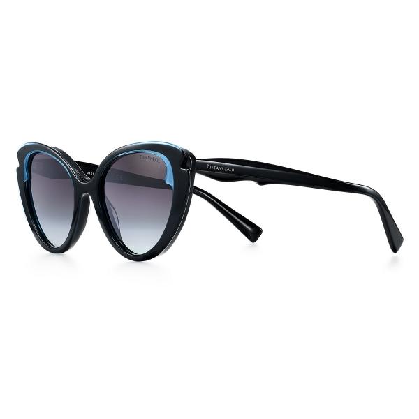 Tiffany & Co. - Occhiale da Sole Cat Eye - Nero Tiffany Blue Grigie - Collezione Tiffany Paper Flowers - Tiffany & Co. Eyewear