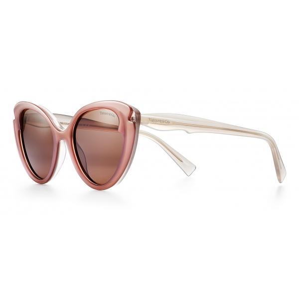 Tiffany & Co. - Occhiale da Sole Cat Eye - Taupe Sabbia Marroni - Collezione Tiffany Paper Flowers - Tiffany & Co. Eyewear