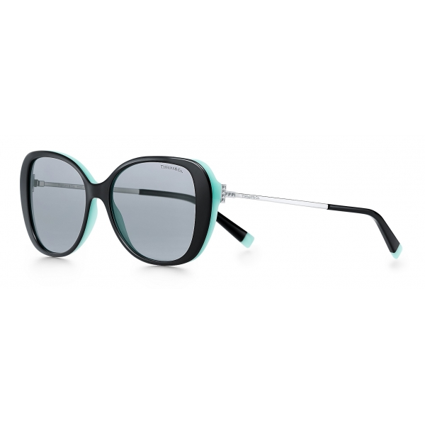 Tiffany & Co. - Butterfly Sunglasses - Black Blue Silver - Tiffany T Collection - Tiffany & Co. Eyewear