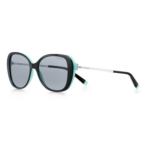 Tiffany & Co. - Occhiale da Sole Butterfly - Nero Blu Grigio - Collezione Tiffany T - Tiffany & Co. Eyewear