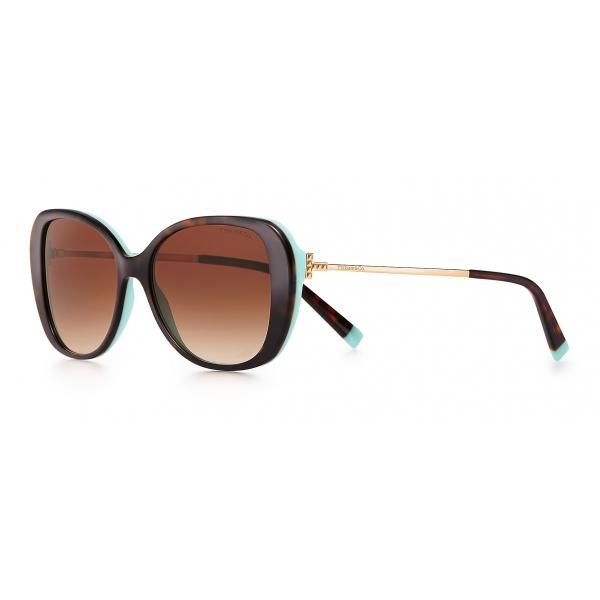 Tiffany & Co. - Occhiale da Sole Butterfly - Tartaruga Blue Marroni - Collezione Tiffany T - Tiffany & Co. Eyewear