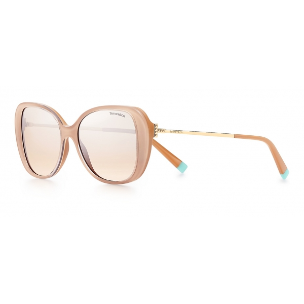 Tiffany & Co. - Butterfly Sunglasses - Beige Gold Brown Silver - Tiffany T Collection - Tiffany & Co. Eyewear