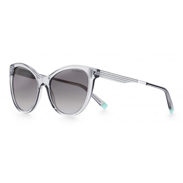 Tiffany & Co. - Occhiale da Sole Butterfly - Grigie Argento - Collezione Diamond Point - Tiffany & Co. Eyewear