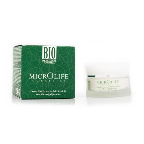 Microlife - Cosmetici Bio - Crema Bio Protettiva Pelli Sensibili con Microalga Spirulina