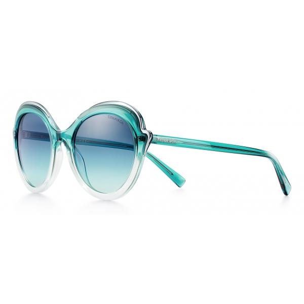 Tiffany & Co. - Occhiale da Sole Cat Eye - Blu Argento Grigio - Collezione Tiffany Paper Flowers - Tiffany & Co. Eyewear