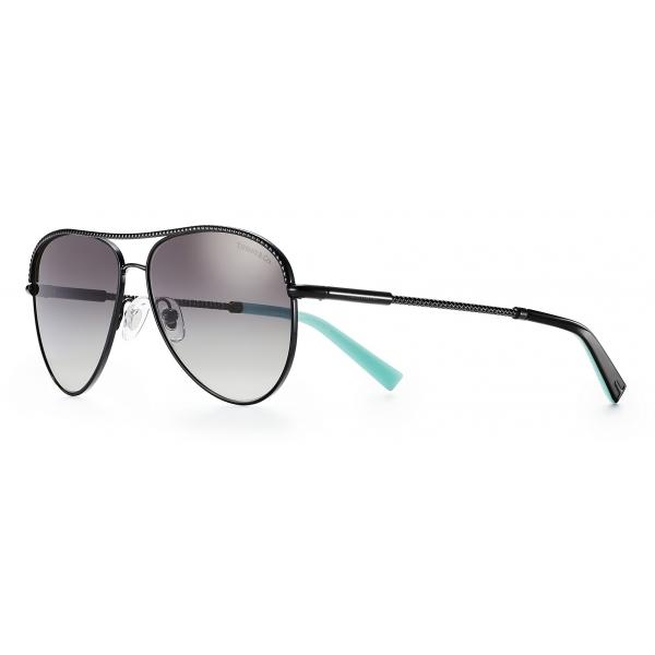 Tiffany & Co. - Occhiale da Sole Pilot - Nero Grigio - Collezione Diamond Point - Tiffany & Co. Eyewear