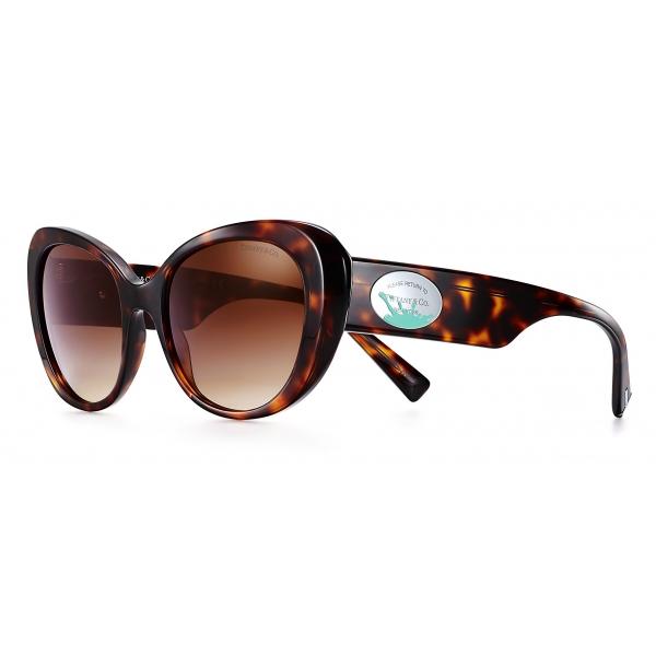 Tiffany & Co. - Occhiale da Sole Ovali Color Splash - Tartaruga Marroni - Collezione Return to Tiffany - Tiffany & Co. Eyewear
