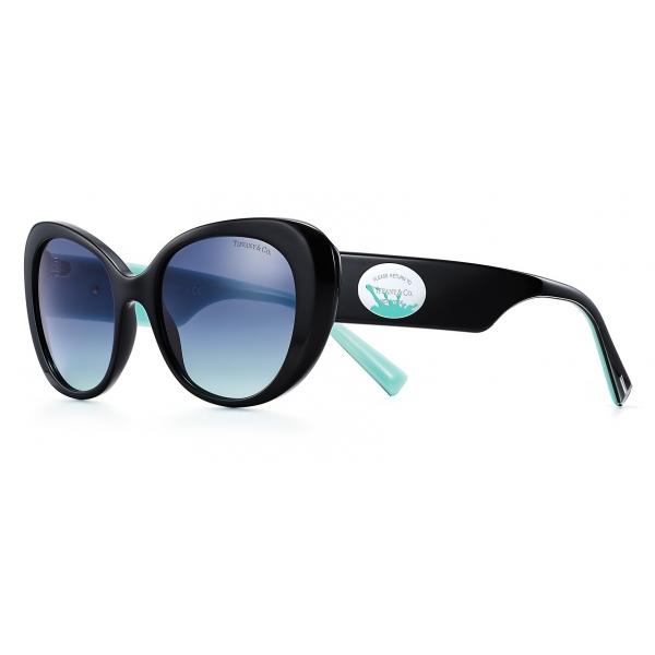 Tiffany & Co. - Occhiale da Sole Ovali Color Splash - Nero Tiffany Blue - Collezione Return to Tiffany - Tiffany & Co. Eyewear