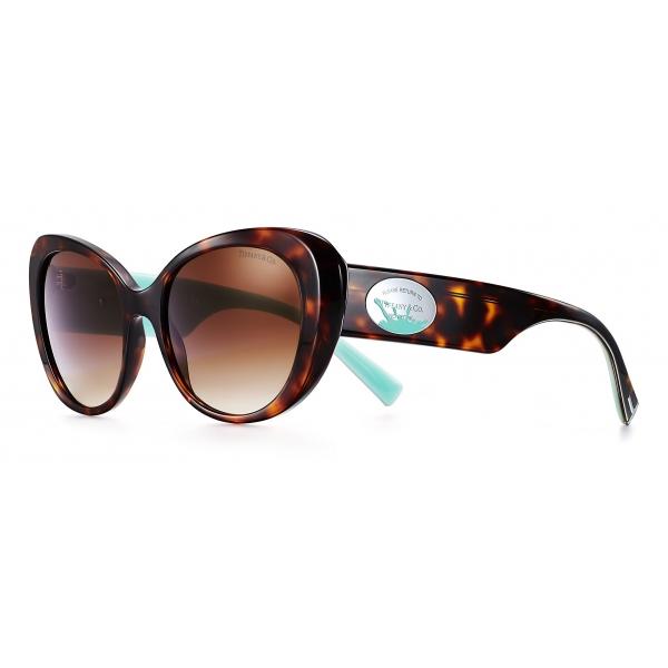 Tiffany & Co. - Occhiale da Sole Ovali Color Splash - Tartaruga Blu Marroni - Return to Tiffany - Tiffany & Co. Eyewear