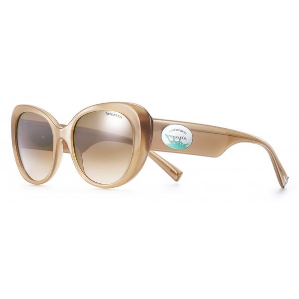 Tiffany & Co. - Occhiale da Sole Ovali Color Splash - Opale Beige Marroni - Collezione Return to Tiffany - Tiffany & Co. Eyewear