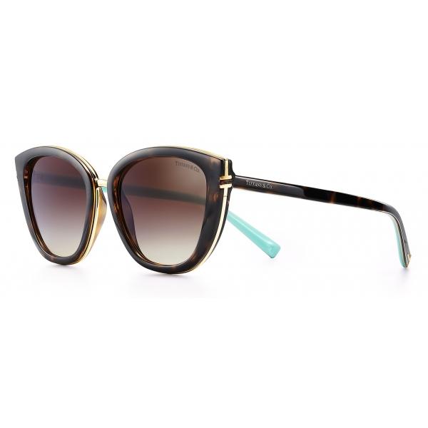 Tiffany & Co. - Occhiale da Sole Quadrati - Tartaruga Marroni - Collezione Tiffany T - Tiffany & Co. Eyewear