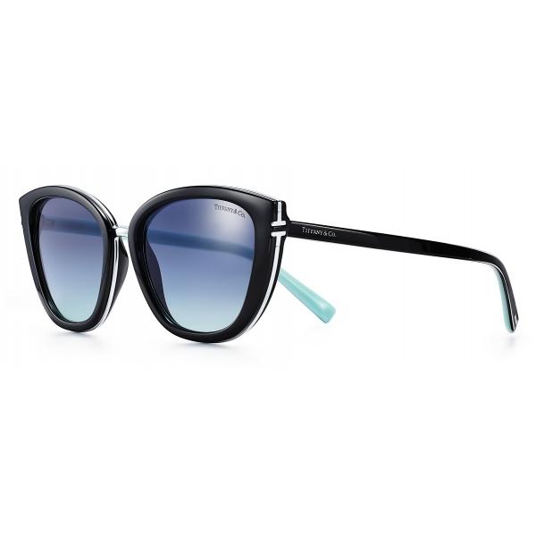 Tiffany & Co. - Occhiale da Sole Quadrati - Nero Blu - Collezione Tiffany T - Tiffany & Co. Eyewear