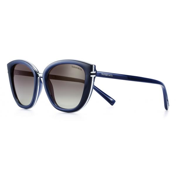 Tiffany & Co. - Occhiale da Sole Quadrati - Opale Blu Grigio - Collezione Tiffany T - Tiffany & Co. Eyewear