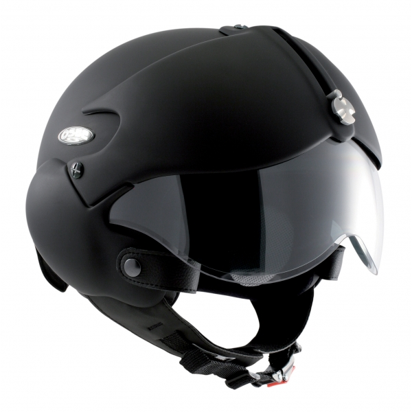 Osbe Italy - Tornado Matt Black - Motorcycle Helmet - High Quality - Made in Italy