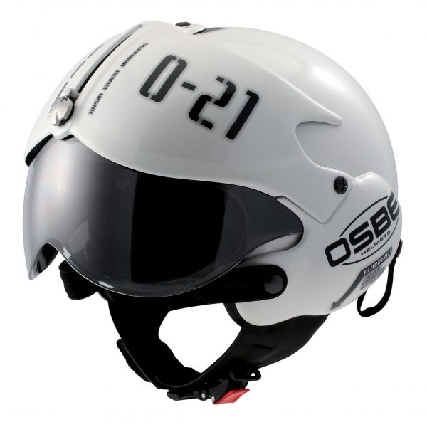 Osbe Italy - Tornado White Pearl Gr. Osbe - Motorcycle Helmet - High Quality - Made in Italy
