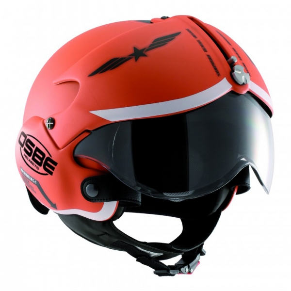 Osbe Italy - Tornado Matt Orange - Motorcycle Helmet - High Quality - Made in Italy