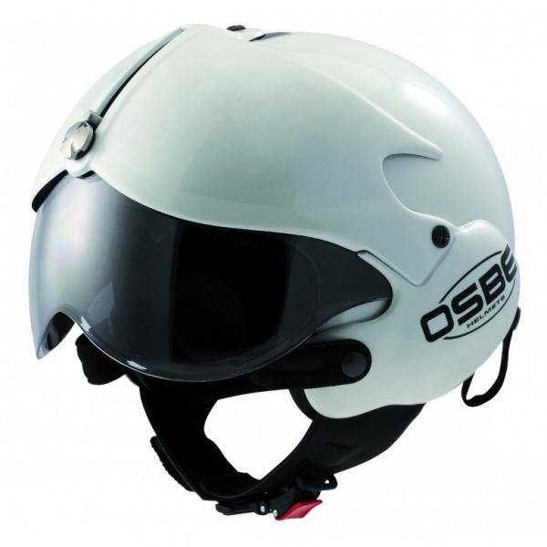 Osbe Italy - Tornado Bianco - Casco da Moto - Alta Qualità - Made in Italy
