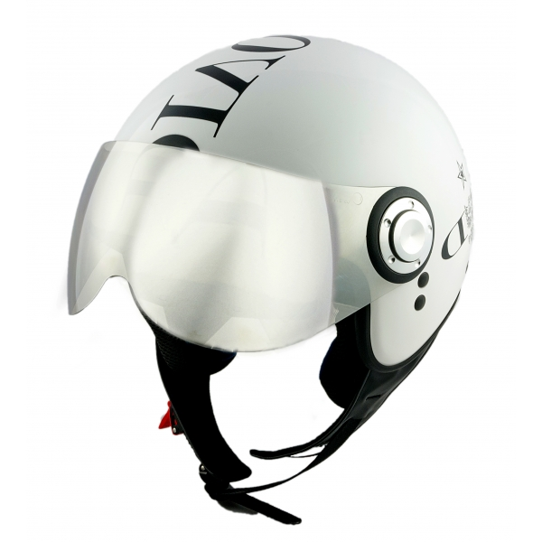 Divo Diva - Shiny White - Special Edition - Osbe Italy - Motorcycle Helmet - High Quality - Made in Italy