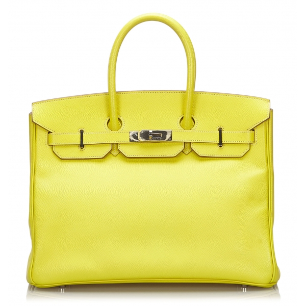 Hermès Vintage - Epsom Birkin 35 Bag - Yellow - Leather and Calf Handbag - Luxury High Quality