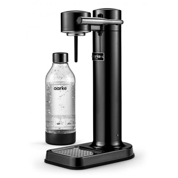 Aarke - Carbonator II - Aarke Sparkling Water Maker - Nero Cromo - Smart Home - Produttore di Acqua Frizzante