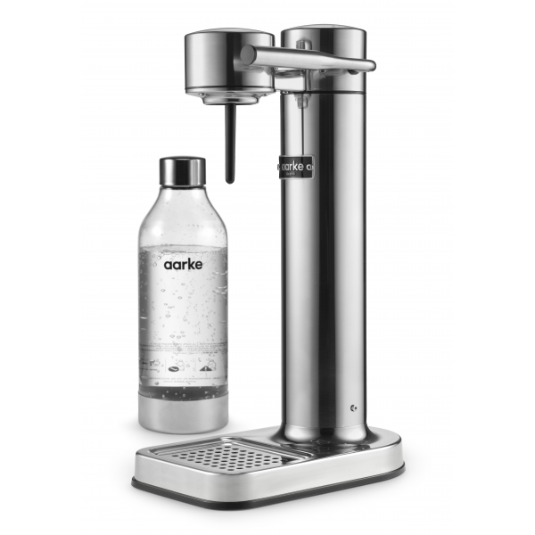 Aarke - Carbonator II - Aarke Sparkling Water Maker - Acciaio Lucido - Smart Home - Produttore di Acqua Frizzante