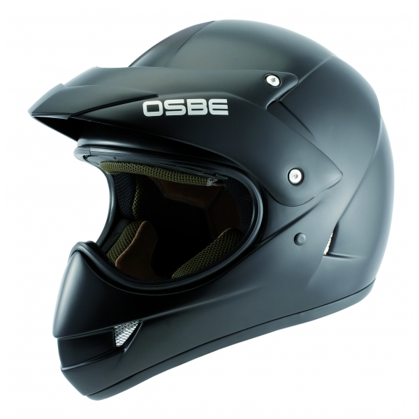 Osbe Italy - Adventure Matt Black - Motorcycle Helmet - High Quality - Made in Italy