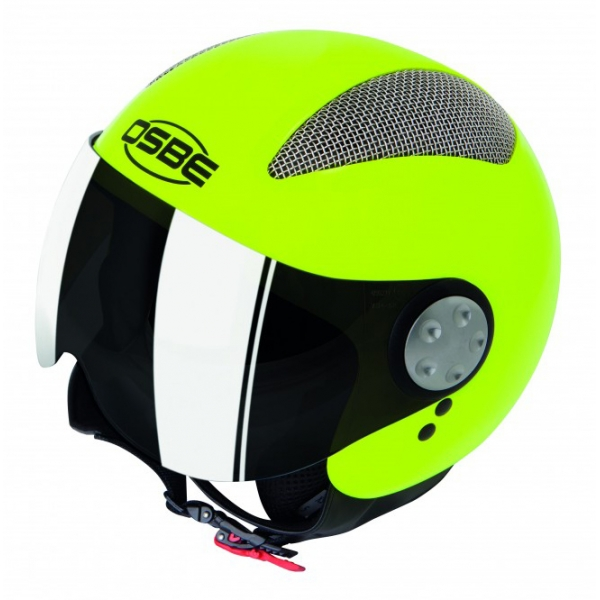 Osbe Italy - Summer Giallo Fluo - Casco da Moto - Alta Qualità - Made in Italy