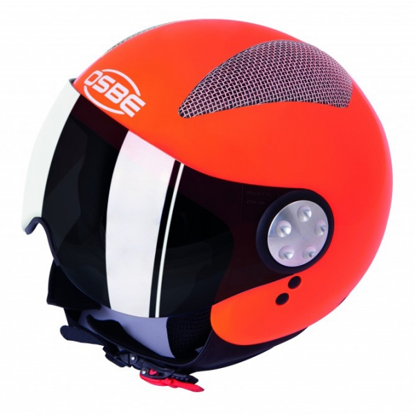 Osbe Italy - Summer Orange Fluo - Motorcycle Helmet - High Quality - Made in Italy