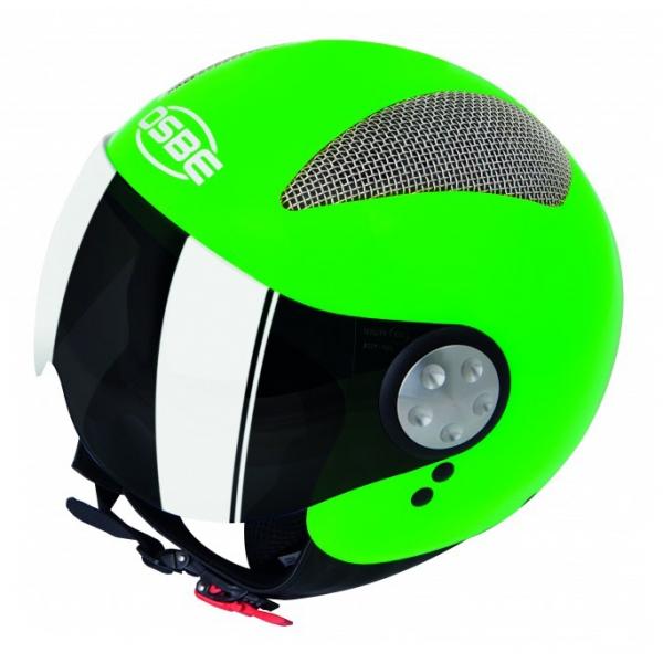 Osbe Italy - Summer Verde Fluo - Casco da Moto - Alta Qualità - Made in Italy