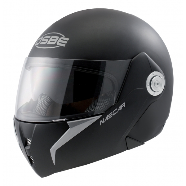 Osbe Italy - Nascar Black Matt - Motorcycle Helmet - High Quality - Made in Italy