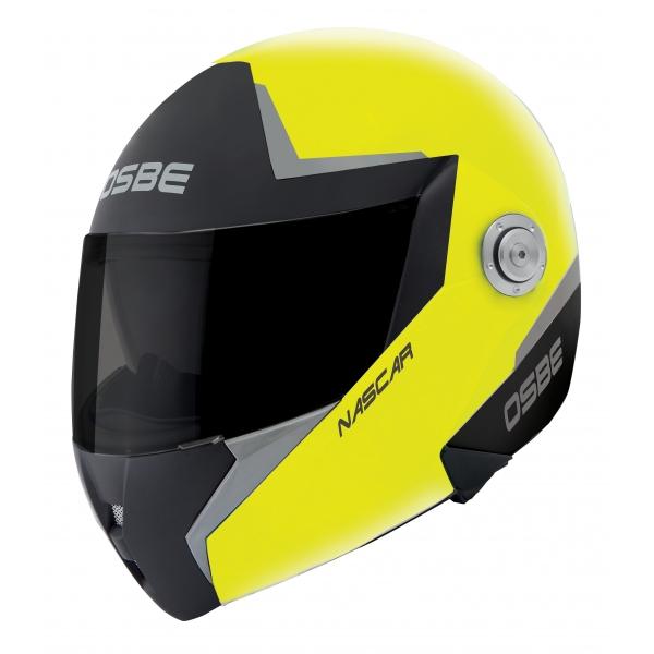 Osbe Italy - Nascar Giallo - Casco da Moto - Alta Qualità - Made in Italy