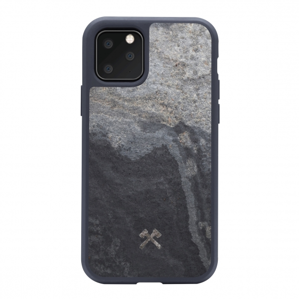 Woodcessories - Eco Bump - Cover in Pietra - Grigio Camo - iPhone 11 Pro - Cover in Vera Pietra - Eco Case - Bumper Collection