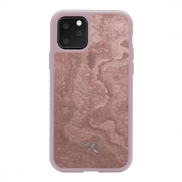 Woodcessories - Eco Bump - Cover in Pietra - Rosso Canyon - iPhone 11 Pro - Cover in Vera Pietra - Eco Case - Bumper Collection