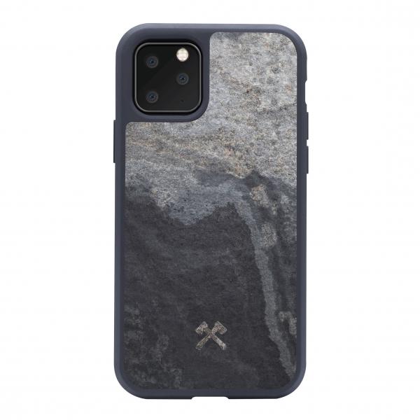 Woodcessories - Eco Bumper - Stone Cover - Camo Gray - iPhone 11 Pro Max - Real Stone Cover - Eco Case - Bumper Collection
