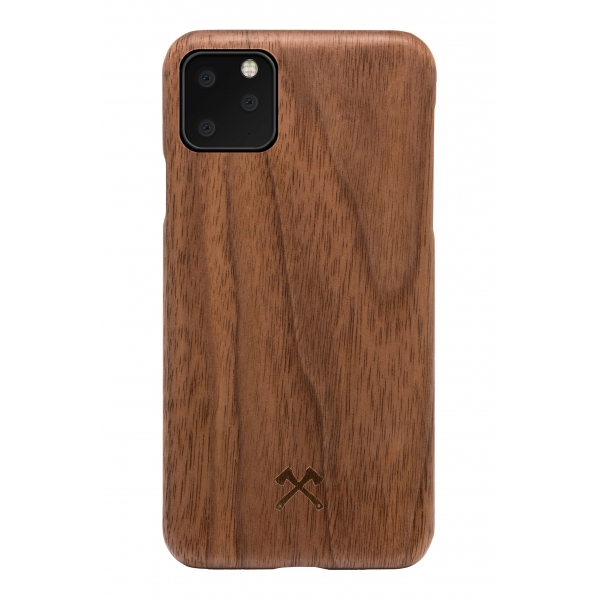 Woodcessories - Cover in Legno di Noce e Kevlar - iPhone 11 Pro - Cover in Legno - Eco Case - Ultra Slim - Collezione Kevlar