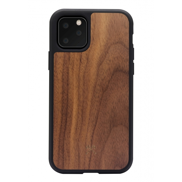 Woodcessories - Eco Bumper - Walnut Cover - Black - iPhone 11 Pro Max - Wooden Cover - Eco Case - Bumper Collection